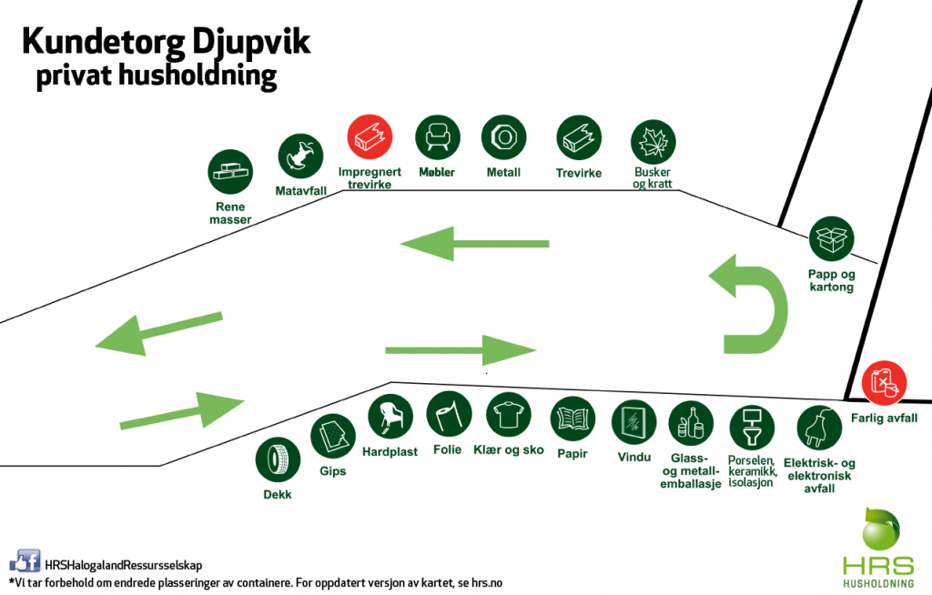 Oversiktskart over Djupvik Miljøpark